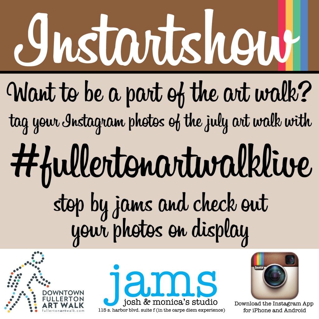 Instartshow #fullertonartwalklive @ JAMS